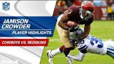 Jamison Crowder's Great Game w/ 9 Grabs & 123 Yards   Cowboys vs. Redskins   Wk 8 Player Highlights