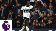 Aboubakar Kamara scores from tight angle for Fulham against Leicester | Premier League | NBC Sports
