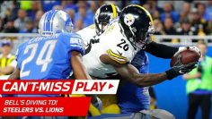 Big Ben's Bomb to Antonio Brown Sets Up Le'Veon Bell's Juking TD! | Can't-Miss Play | NFL Wk 8