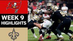 Buccaneers vs. Saints | NFL Week 9 Game Highlights